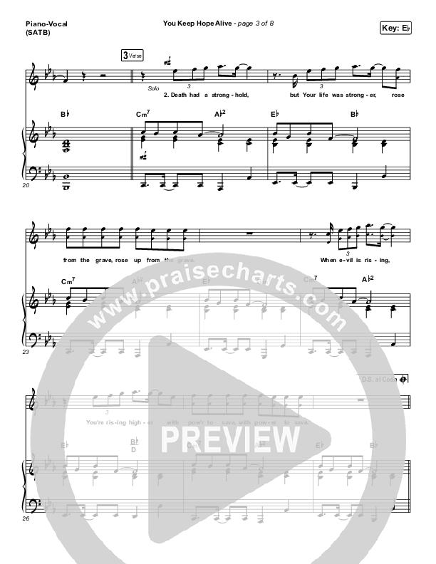 You Keep Hope Alive Piano/Vocal (SATB) (Jon Reddick)