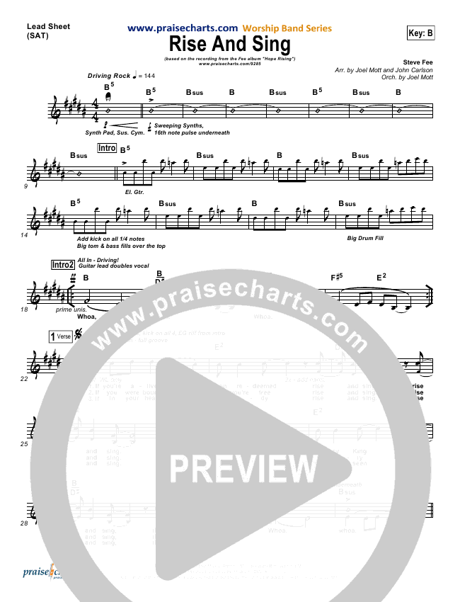 Rise And Sing Orchestration (with Vocals) (FEE Band)