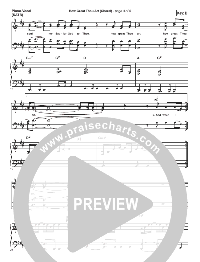 How Great Thou Art (Choral) Orchestration (PraiseCharts Choral / Shane & Shane / The Worship Initiative)