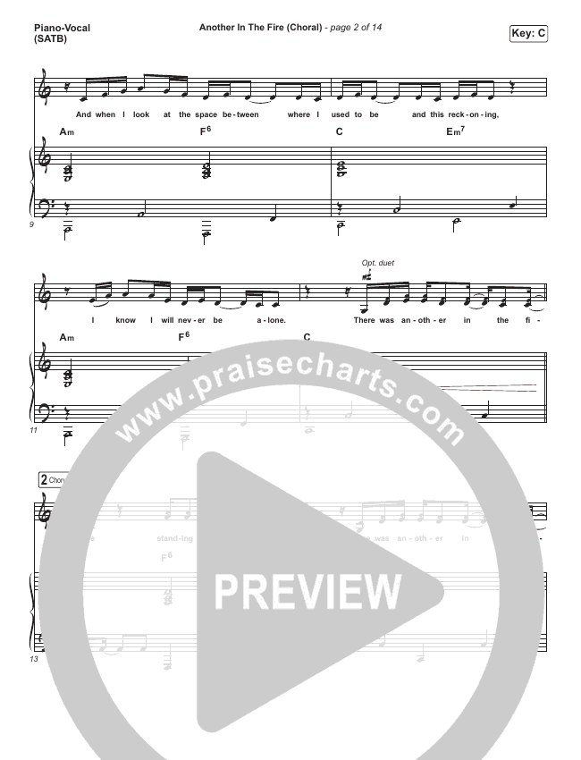 Another In The Fire (Choral) Orchestration (PraiseCharts Choral / Hillsong UNITED)