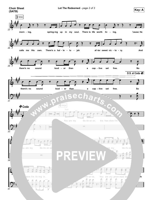 Let The Redeemed Choir Sheet (SATB) (Josh Baldwin)