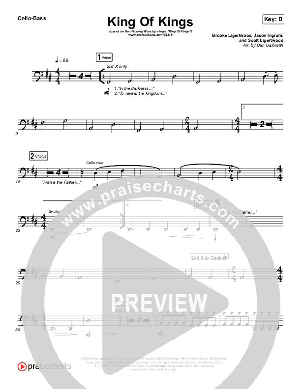 King Of Kings Cello/Bass (Hillsong Worship)