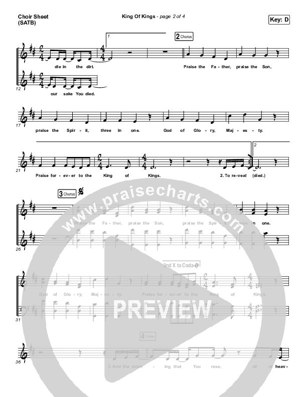 King Of Kings Choir Sheet (SATB) (Hillsong Worship)
