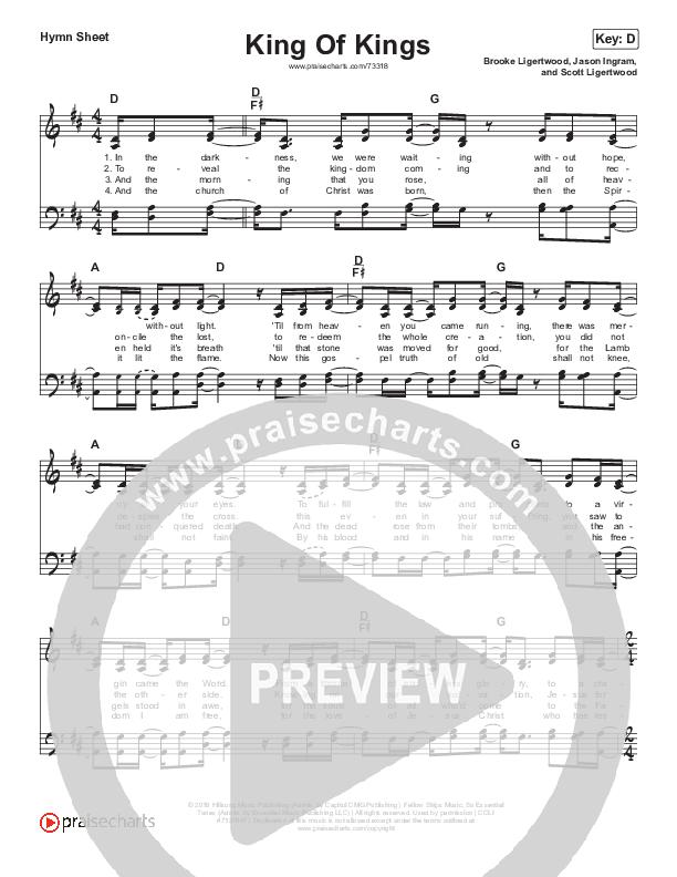 King Of Kings Hymn Sheet (SATB) (Hillsong Worship)
