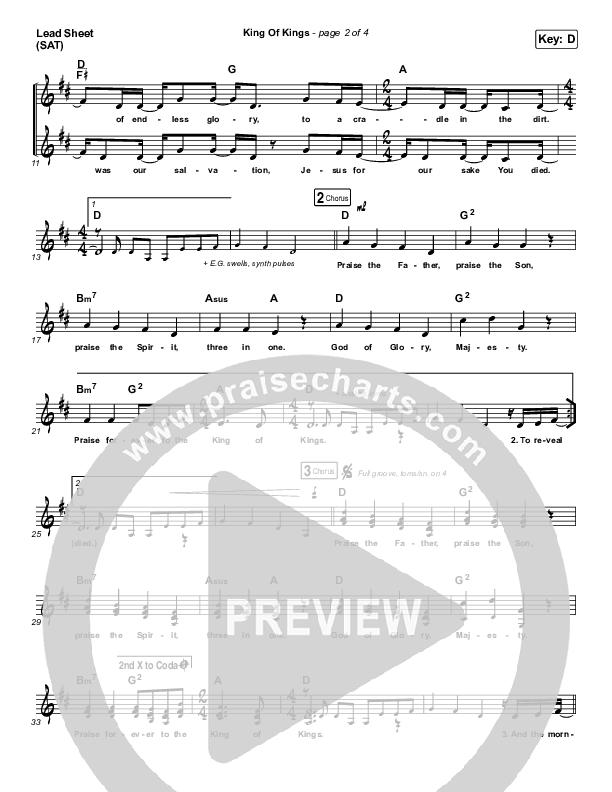 King Of Kings Lead & Piano/Vocal (Hillsong Worship)