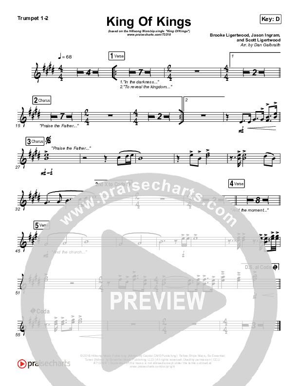 King Of Kings Trumpet 1/2 (Hillsong Worship)