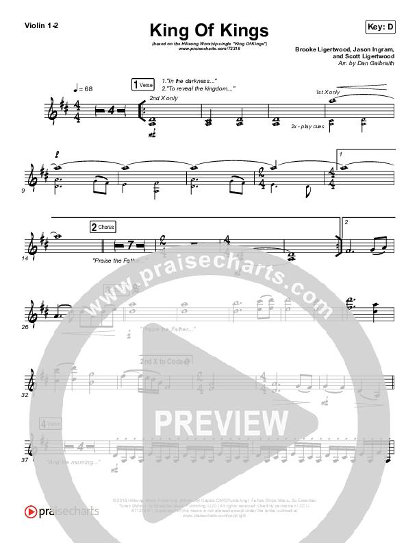 King Of Kings Violin 1/2 (Hillsong Worship)