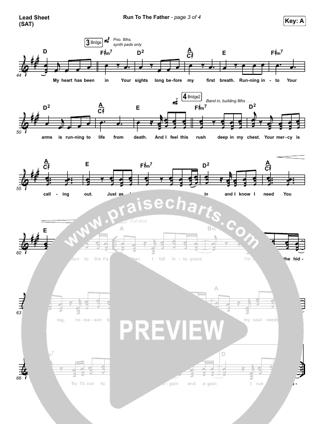 Run To The Father Lead Sheet (SAT) (Cody Carnes)