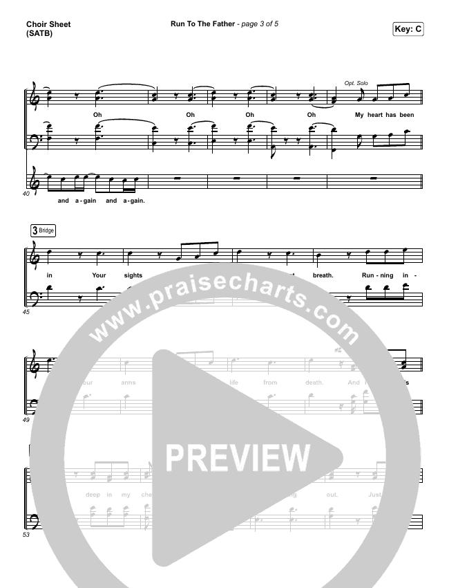 Run To The Father Choir Sheet (SATB) (Cody Carnes)
