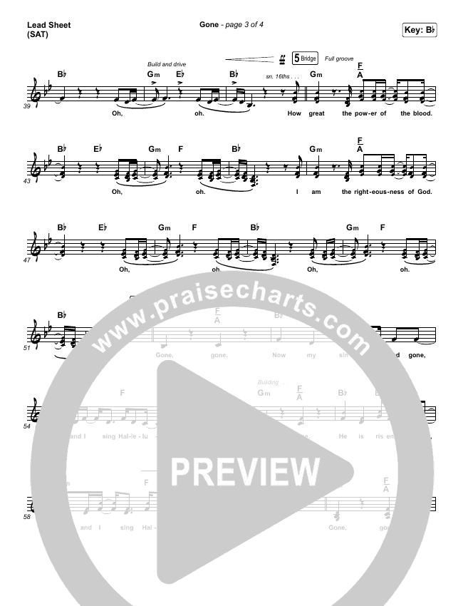 Gone Lead Sheet (SAT) (Elevation Worship)