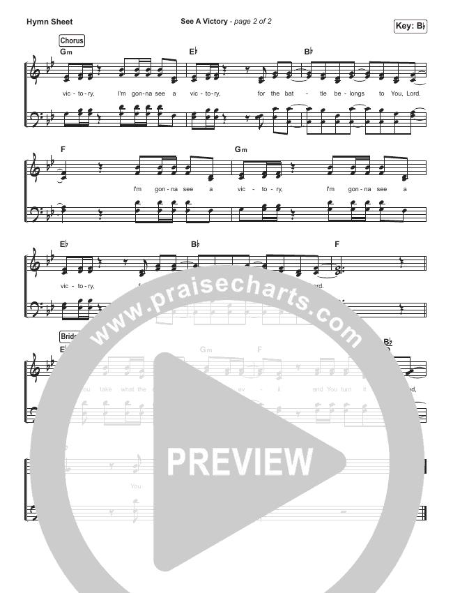 See A Victory Hymn Sheet (Elevation Worship)