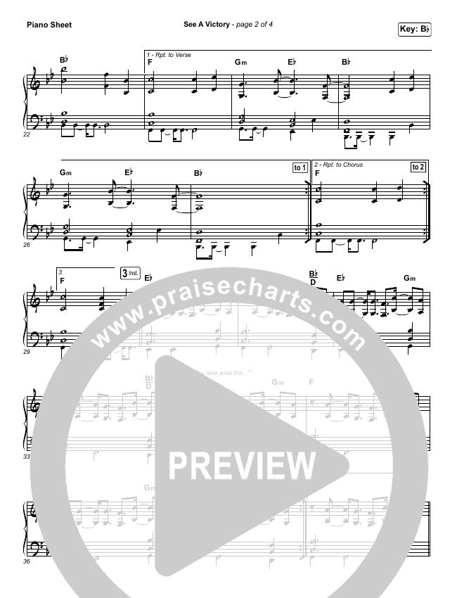 See A Victory Piano Sheet (Elevation Worship)