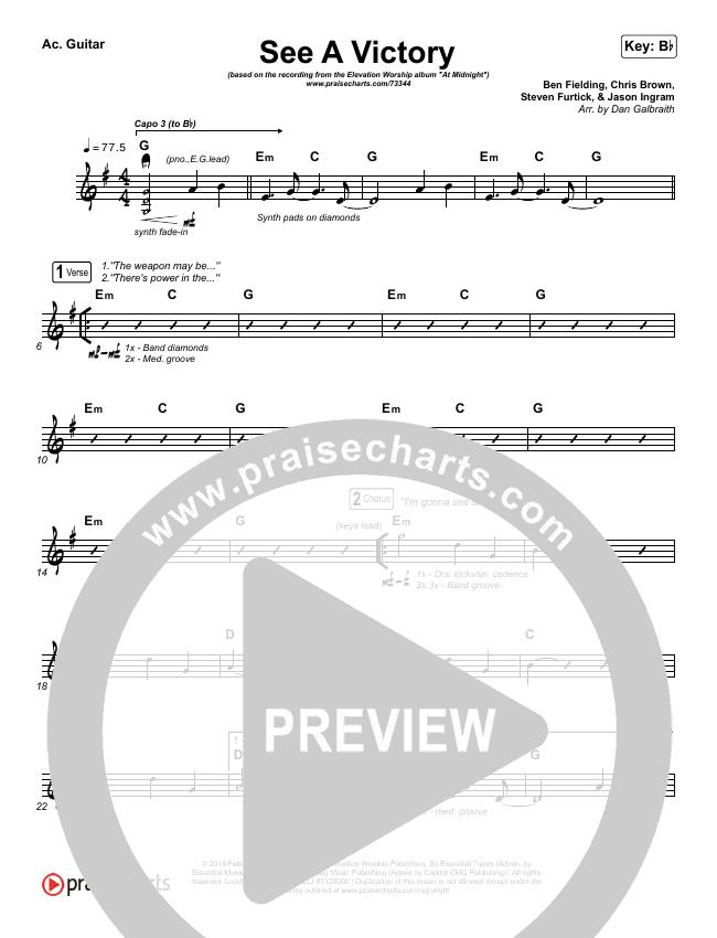 See A Victory Rhythm Chart (Elevation Worship)