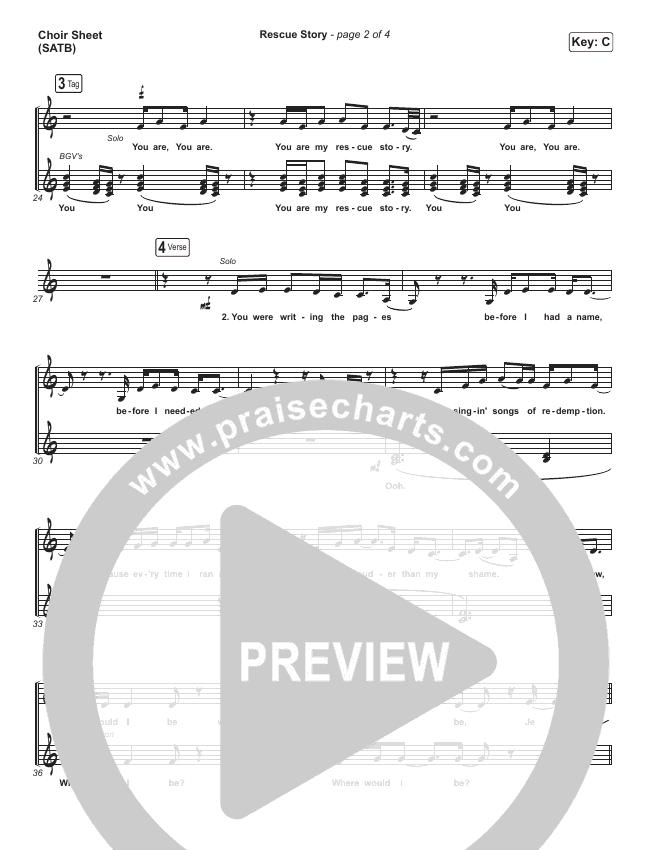 Rescue Story Choir Sheet (SATB) (Zach Williams)