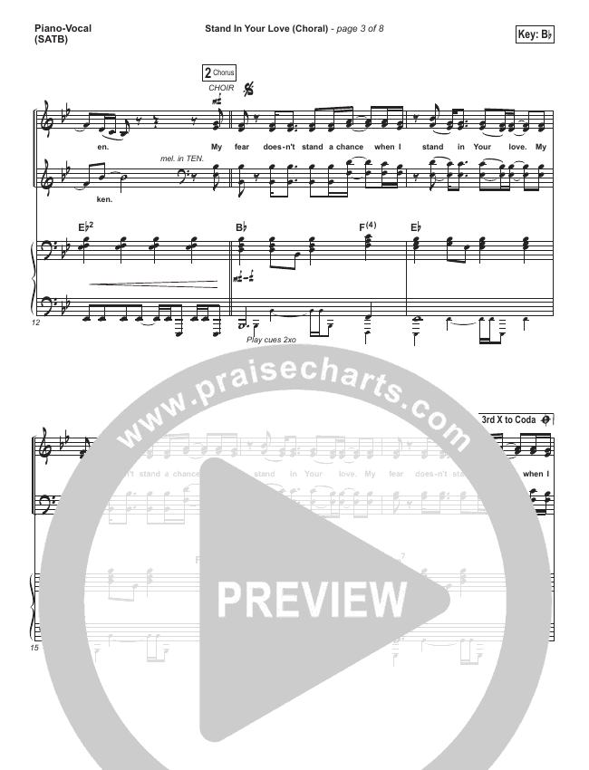 Stand In Your Love (Choral) Orchestration (PraiseCharts Choral / Bethel Music / Josh Baldwin)