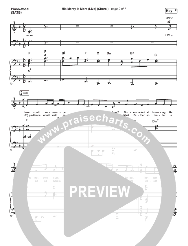 His Mercy Is More (Choral) Orchestration (PraiseCharts Choral / Shane & Shane/The Worship Initiative)