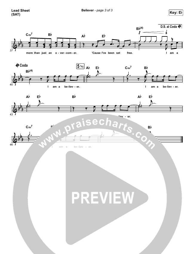 Believer Lead & Piano/Vocal (Rhett Walker Band)