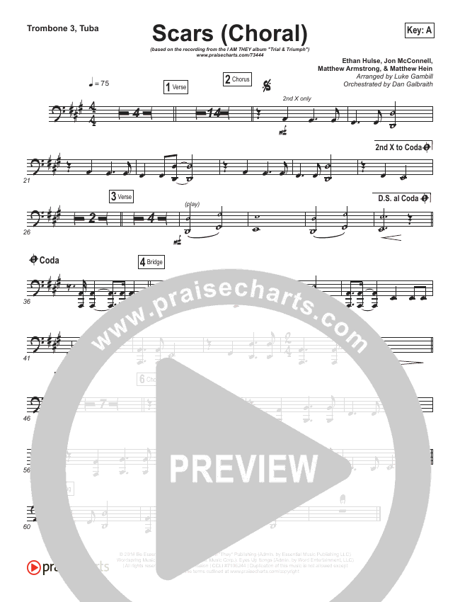 Scars (Choral) Brass Pack (PraiseCharts Choral / I Am They / Arr. Luke Gambill)