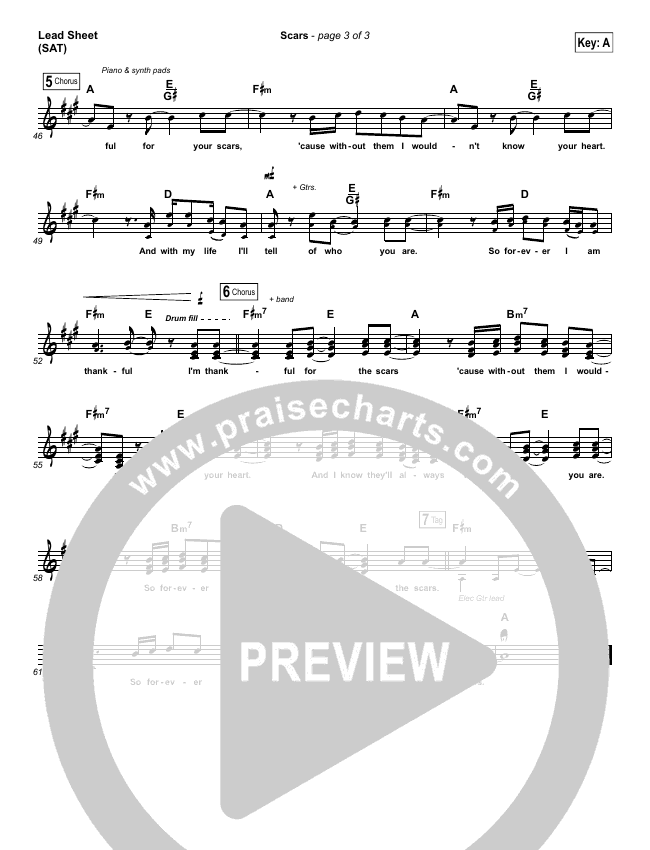 Scars (Choral) Piano/Vocal Pack (Choral) (PraiseCharts Choral / I Am They)