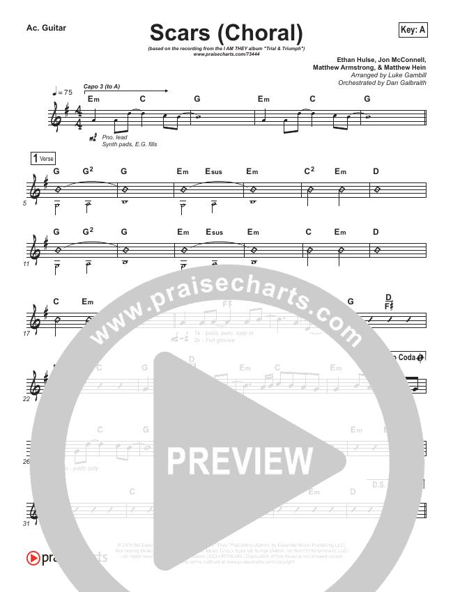 Scars (Choral) Rhythm Chart (PraiseCharts Choral / I Am They)