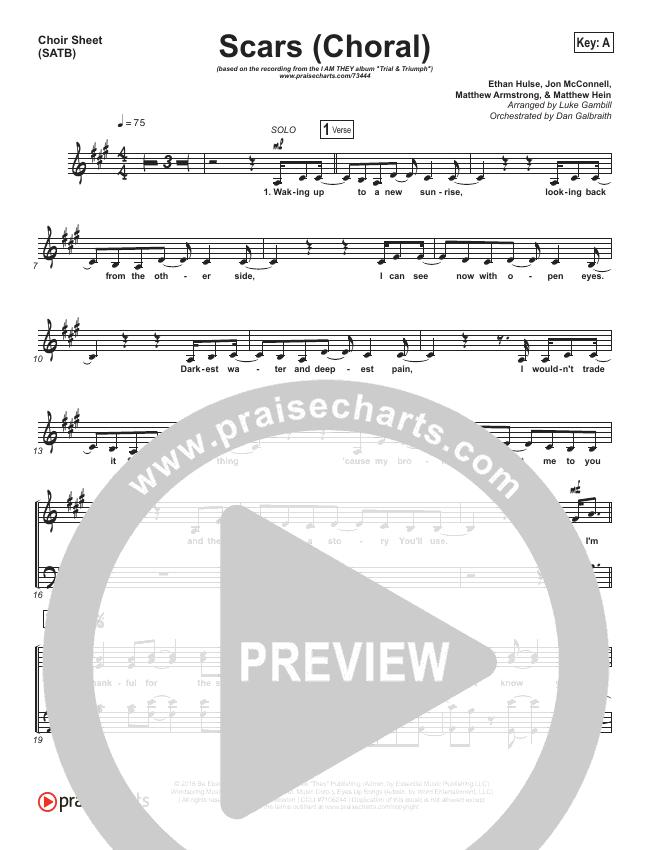 Scars (Choral) Choir Sheet (SATB) (PraiseCharts Choral / I Am They)