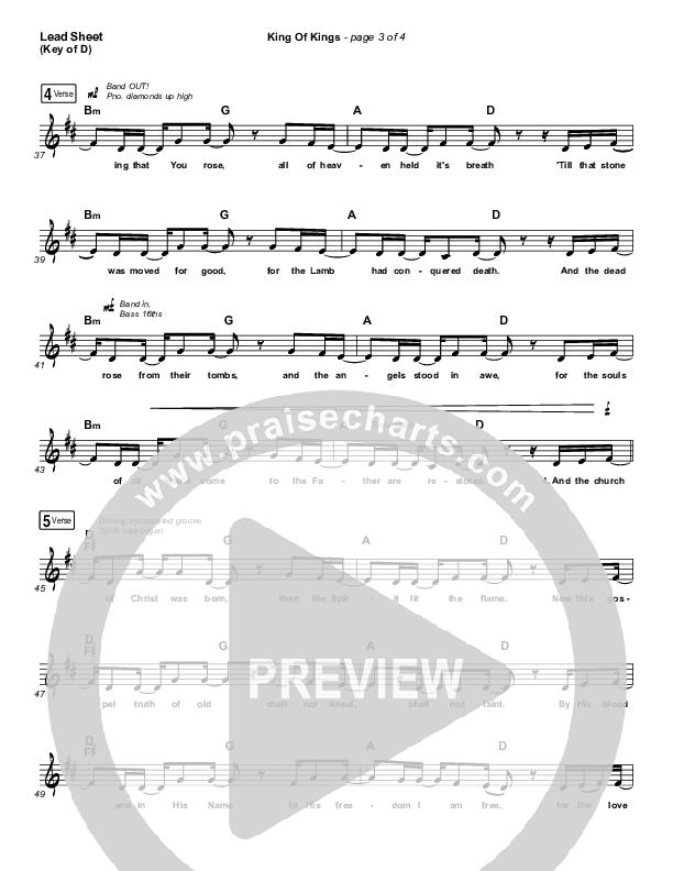 King Of Kings (Live) Lead Sheet (Melody) (Hillsong Worship / Brooke Ligertwood)