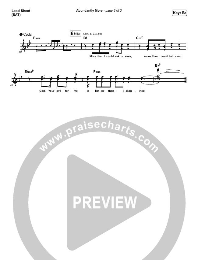 Abundantly More Lead & Piano/Vocal (North Point Worship / Seth Condrey)