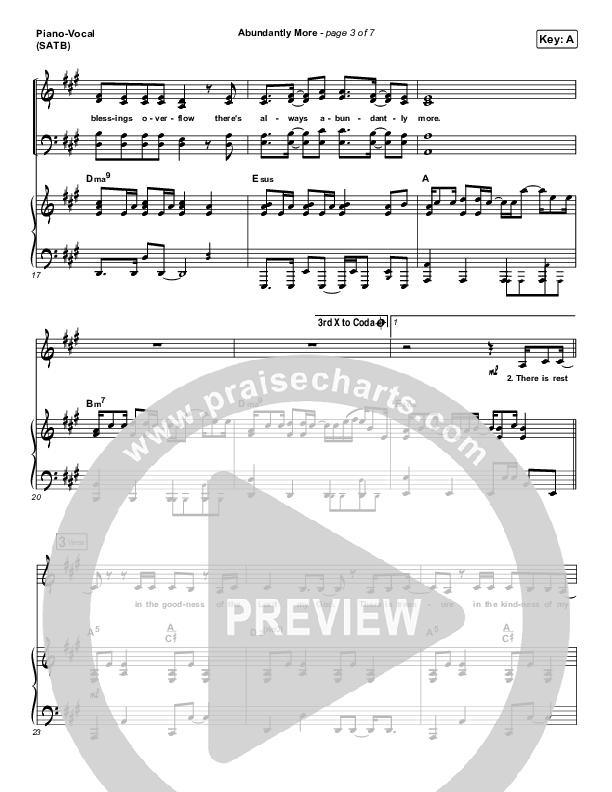 Abundantly More Piano/Vocal (SATB) (North Point Worship / Seth Condrey)