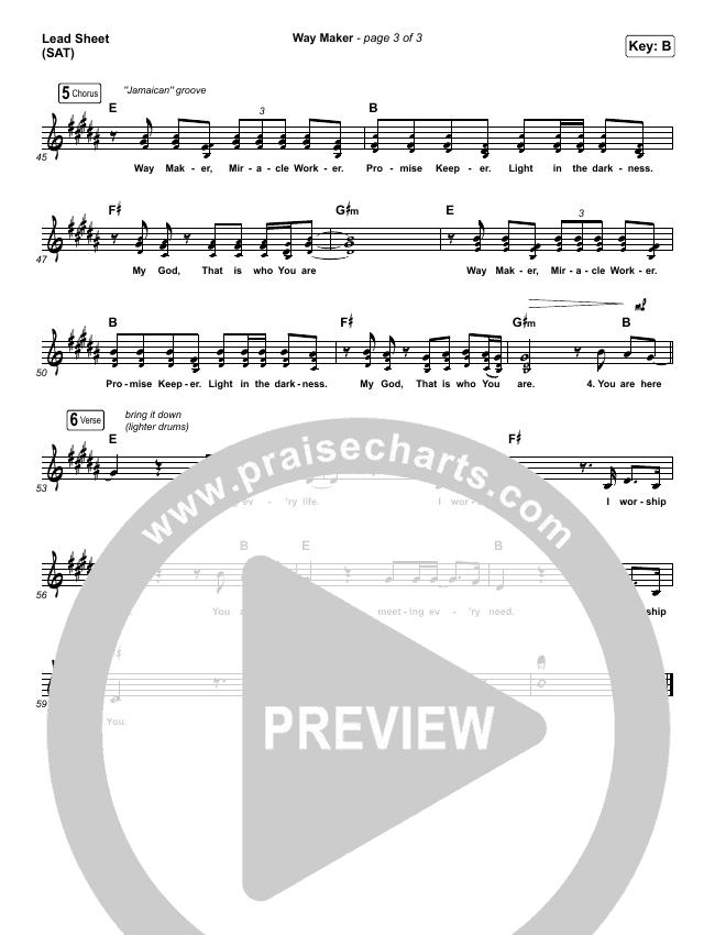 Way Maker Lead & Piano/Vocal (Sinach)