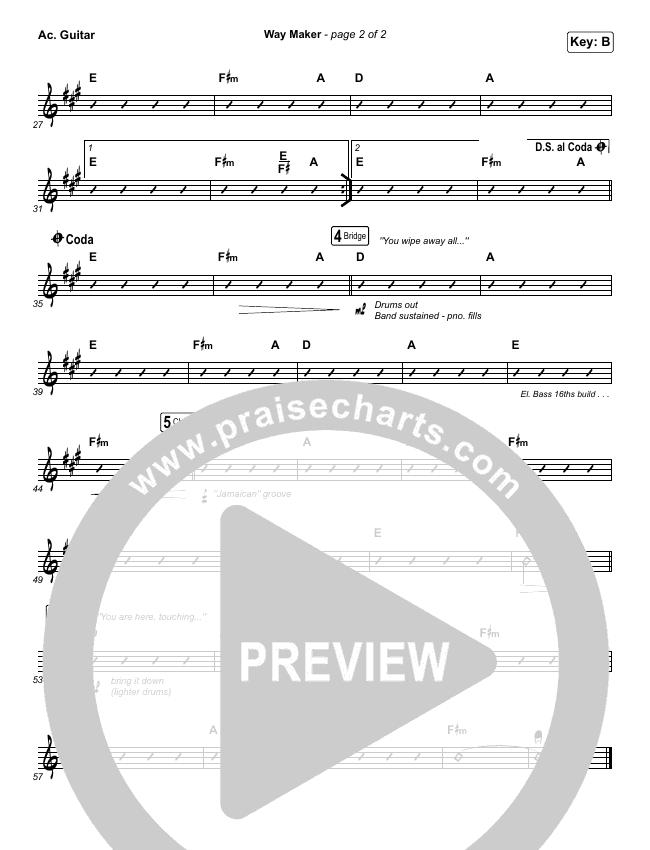 Way Maker Rhythm Chart (Sinach)