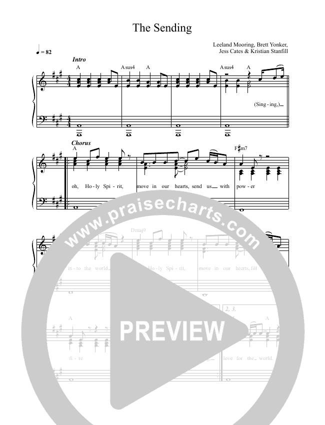 The Sending (Live) Lead & Piano (Leeland)