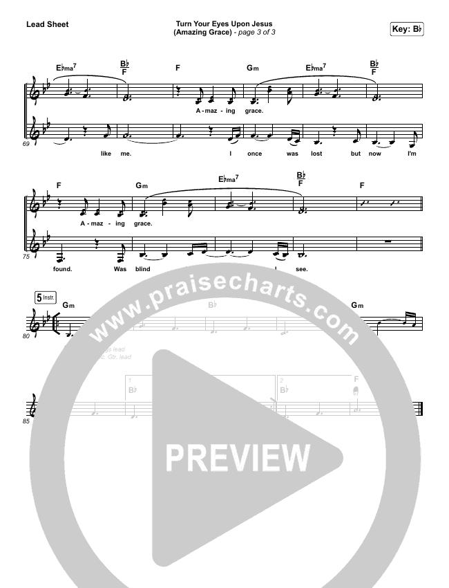 Turn Your Eyes Upon Jesus (Amazing Grace) Lead & Piano/Vocal (Shane & Shane / The Worship Initiative)