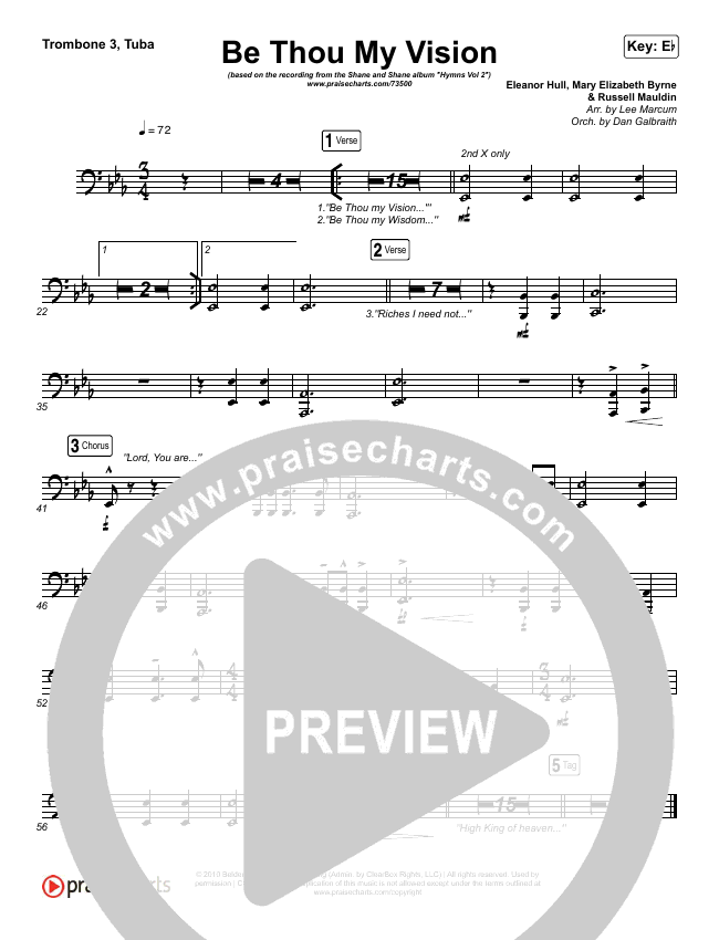 Be Thou My Vision (Lord You Are) Brass Pack (Shane & Shane / The Worship Initiative)