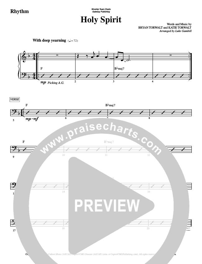 Holy Spirit  Rhythm Chart (WorshipTeam.tv)