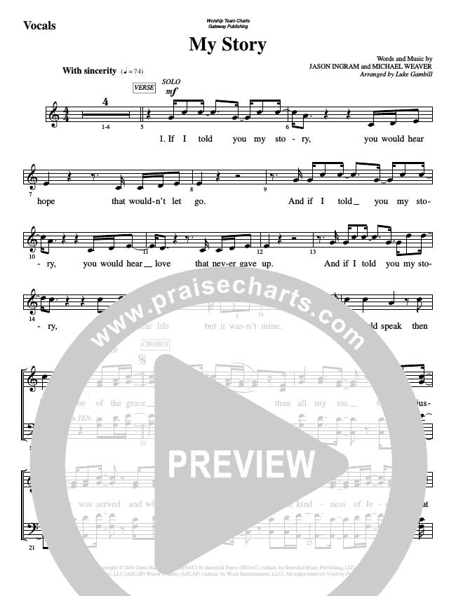 My Story Choir Sheet (SATB) (WorshipTeam.tv)