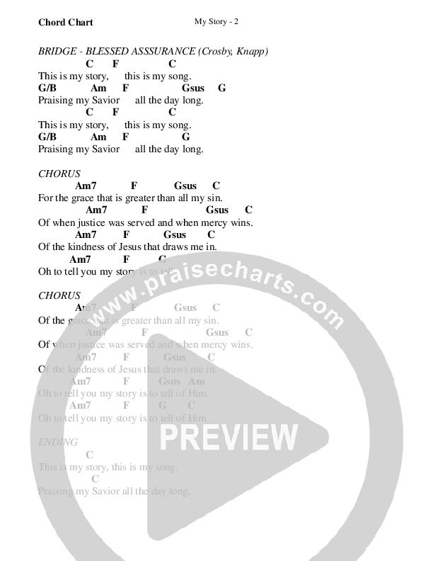 My Story Chord Chart (WorshipTeam.tv)