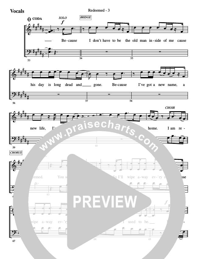 Redeemed Choir Sheet (SATB) (WorshipTeam.tv)