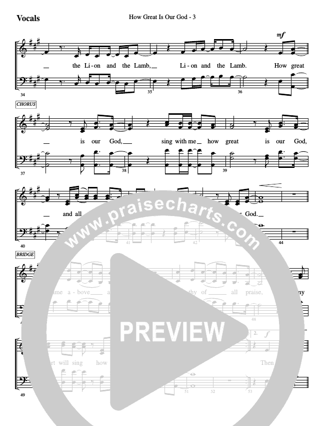 How Great Is Our God (How Great Thou Art) Choir Sheet (SATB) (WorshipTeam.tv)