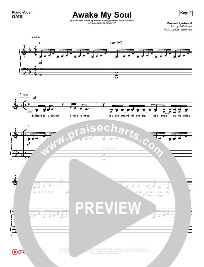 Awake My Soul Piano/Vocal (SATB) (Hillsong Worship)