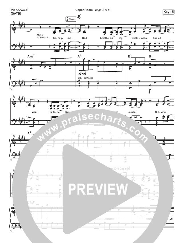 Upper Room Piano/Vocal (SATB) (Hillsong Worship)