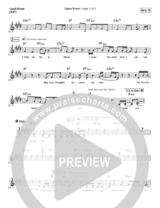 Upper Room Lead Sheet (SAT) (Hillsong Worship)