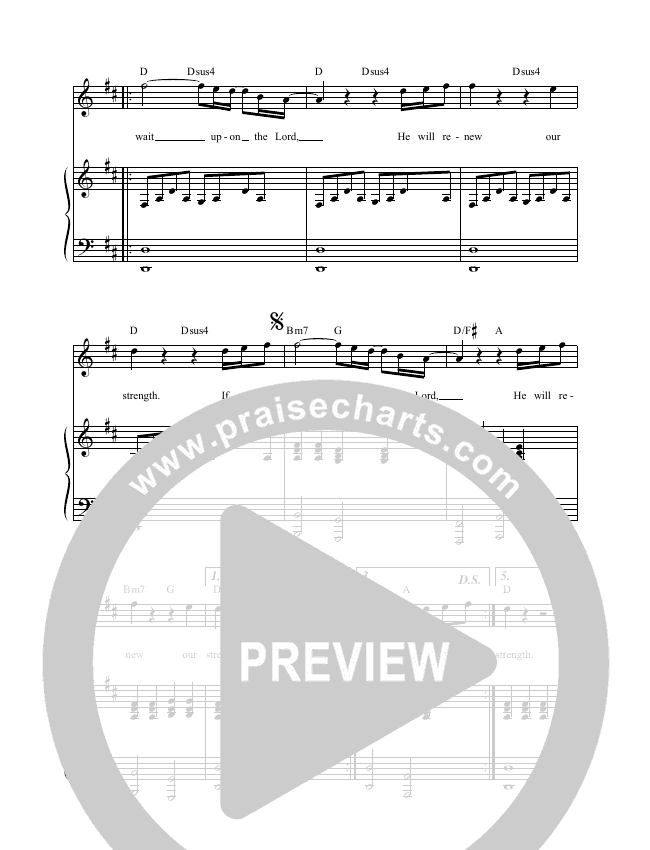 Wait Upon The Lord (Spontaneous) (Live) Lead & Piano (Leeland)