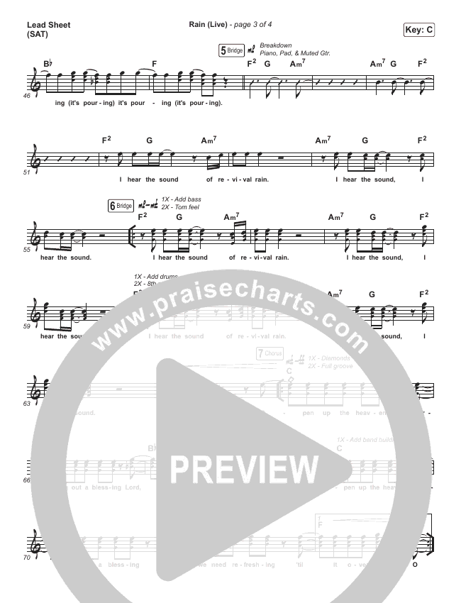 Rain (Live) Lead & Piano (Leeland / Noel Robinson)