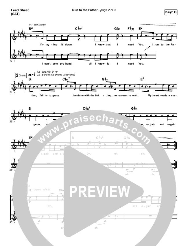 Run To The Father Lead & Piano/Vocal (Matt Maher)