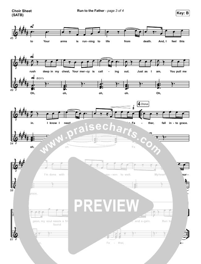 Run To The Father Choir Sheet (SATB) (Matt Maher)