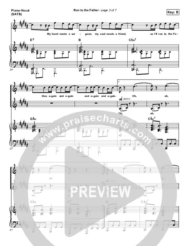 Run To The Father Piano/Vocal (SATB) (Matt Maher)