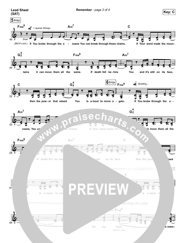 Remember Lead & Piano/Vocal (Bryan & Katie Torwalt)