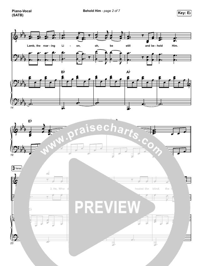 Behold Him Piano/Vocal (SATB) (Paul Baloche / Kim Walker-Smith)