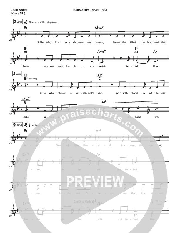 Behold Him Lead Sheet (Melody) (Paul Baloche / Kim Walker-Smith)