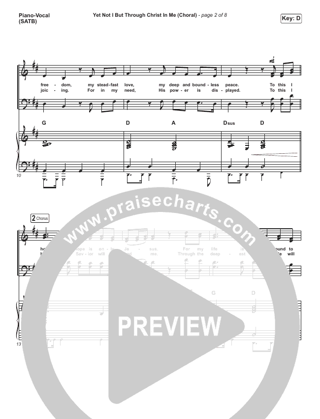 Yet Not I But Through Christ In Me (Choral) Orchestration (PraiseCharts Choral / CityAlight)